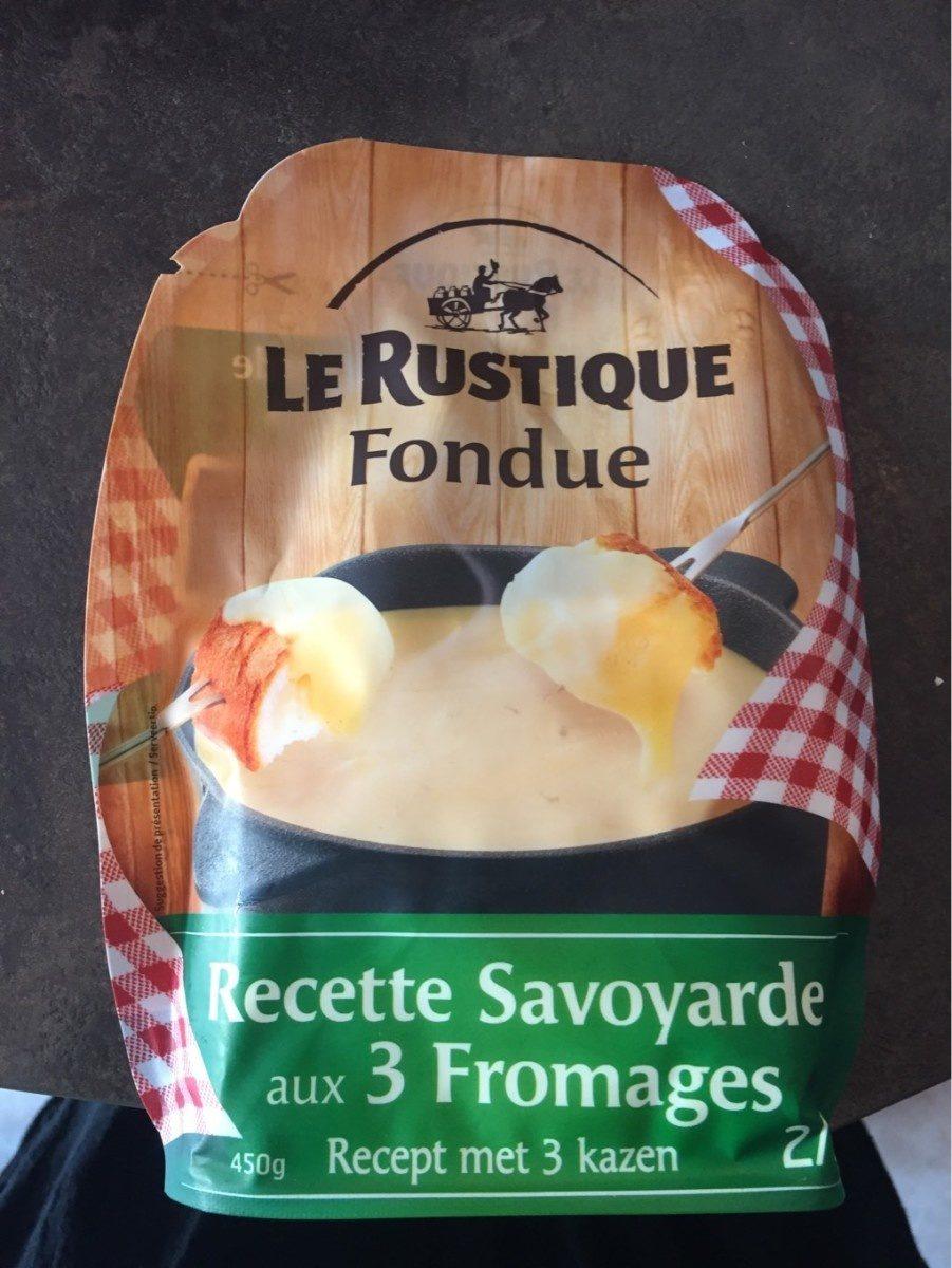 Fondue - rectte savoyarde aux 3 fromages - Product - fr