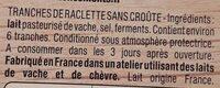 La raclette spéciale croque sans croûte - Ingrédients - fr