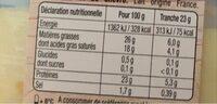 La raclette spéciale croque sans croûte - Informations nutritionnelles - fr