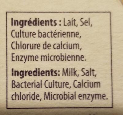 Camembert - Ingrédients