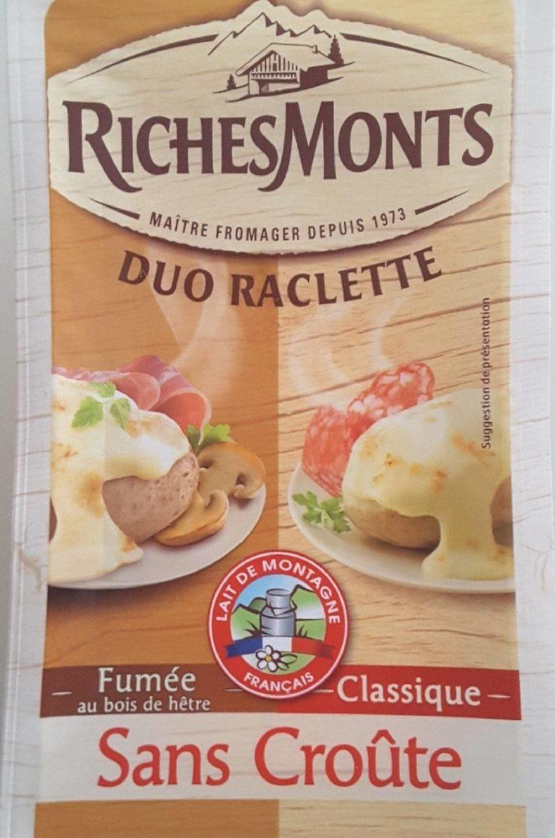 Duo raclette fumée/classique sans croûte - Produit - fr