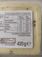 Duo raclette - Informations nutritionnelles - fr