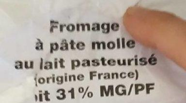 Petit brie des ducs - Ingrédients