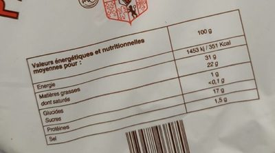 Petit brie des ducs - Informations nutritionnelles