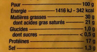 Le Bon Brie - Nutrition facts - fr