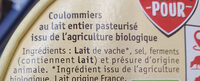 Coulommiers - Ingredients
