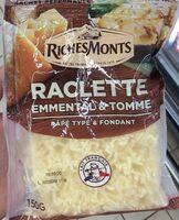 Rapé raclette emmental tomme - Produit - fr
