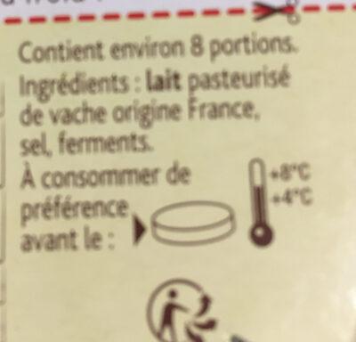 Camembert Le Rustique - Ingrediënten - fr