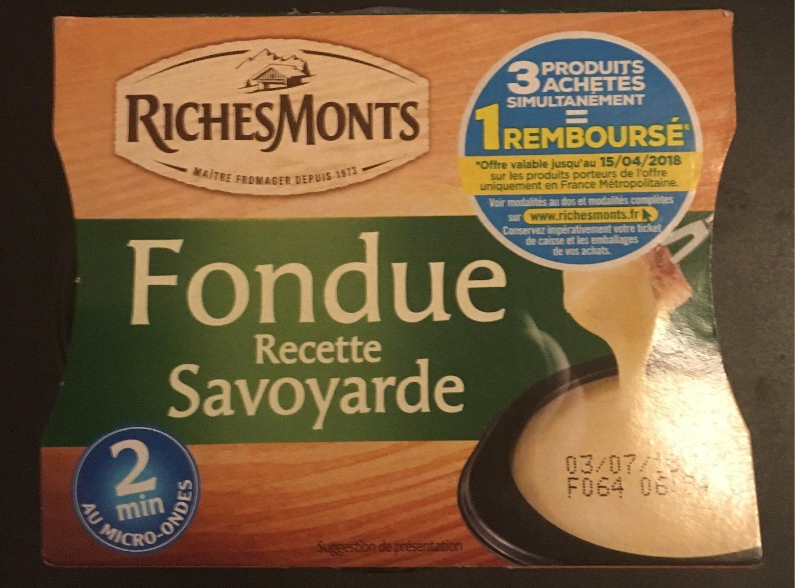 Fondue Recette Savoyarde150g - Product - fr