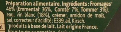 Fondue Recette Savoyarde150g - Ingrediënten