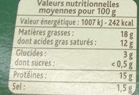 Fondue Recette Savoyarde150g - Voedingswaarden - fr