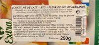 Confiture de lait - Nutrition facts - fr