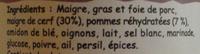 Terrine de cerf aux pommes - Ingrédients
