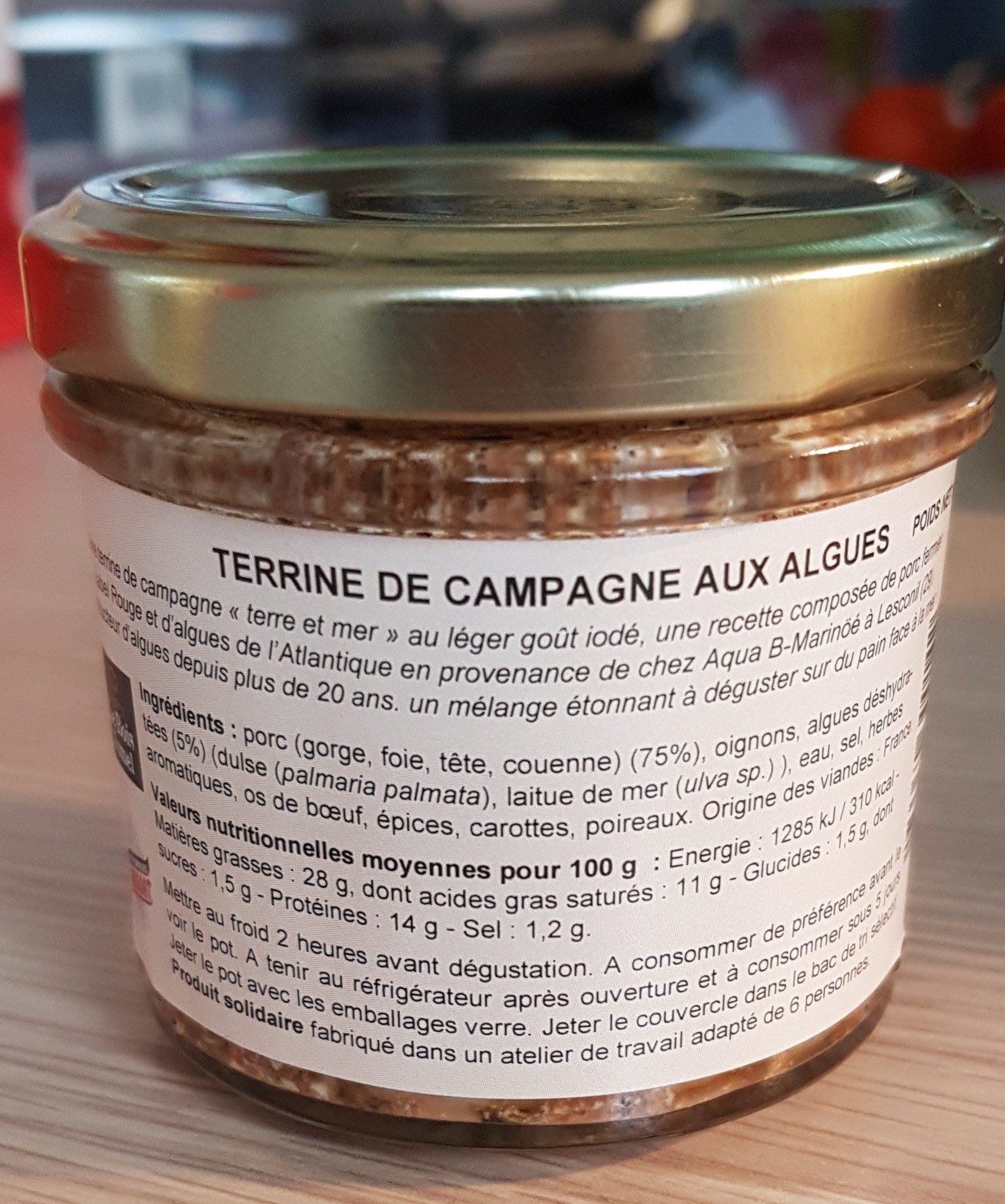 Terrine de campagne aux algues - Ingrédients