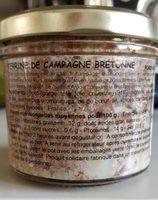 Terrine de campagne bretonne - Ingrédients - fr