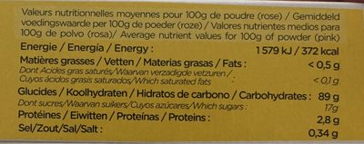 COLORANT ALIMENTAIRE 3 COULEURS 6 DOSES - Nutrition facts - fr