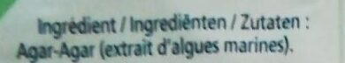 Agar-Agar - Ingrediënten - fr