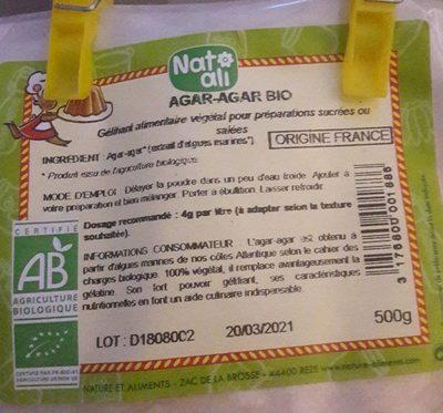 Agar agar bio - Produit - fr
