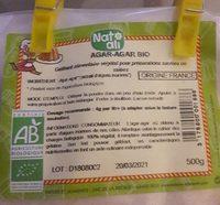 Agar agar bio - Ingrédients - fr