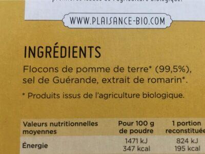 Puree pommes de terre - Ingrediënten - fr
