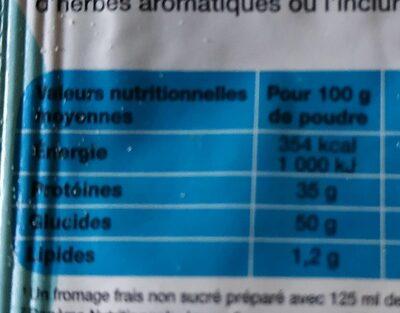 Bio plaisance préparation fromages frais en faisselle - Nutrition facts
