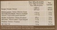 Bio-flan café sans sucres ajoutés - Informations nutritionnelles - fr