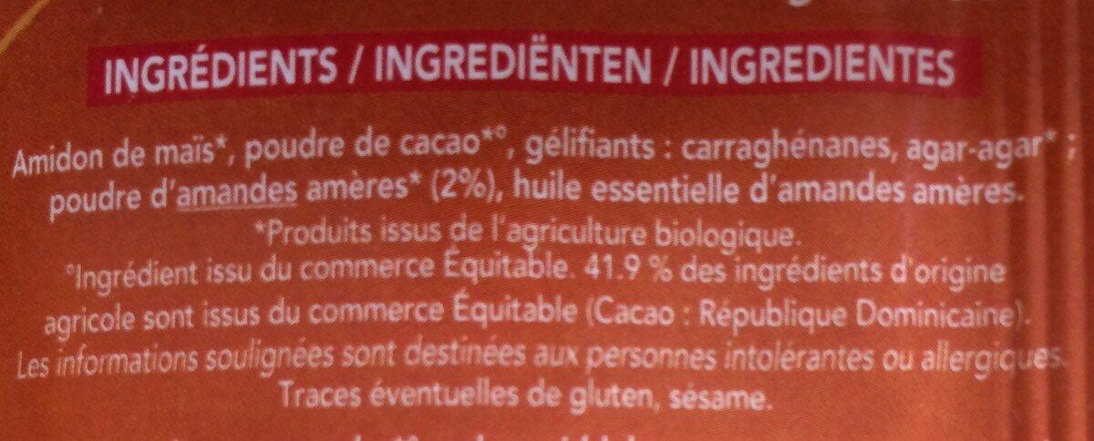 Bioflan Non Sucre Au Praline - Ingrediënten