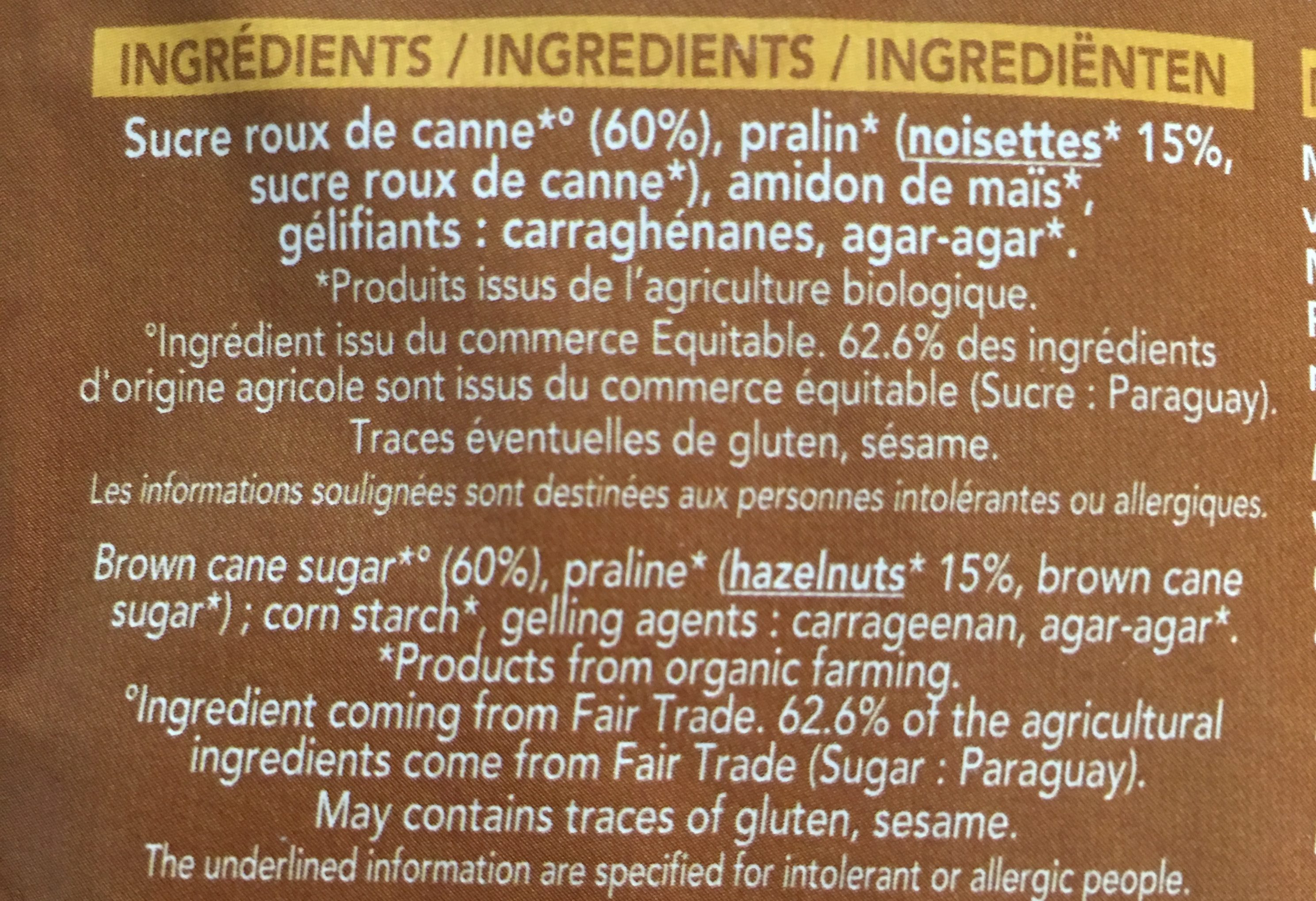 Bio-flan Noisette - Ingrediënten - fr