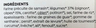 Potabio aux cèpes - Ingrédients