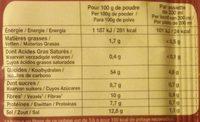 Potabio africain - Informations nutritionnelles