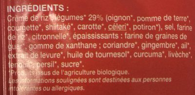 Potage Thaï - Ingrédients - fr