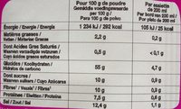 Potabio du monde - Indien - Nutrition facts - fr