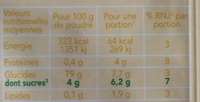 Bio flan saveur caramel sans sucre ajouté - Informations nutritionnelles - fr