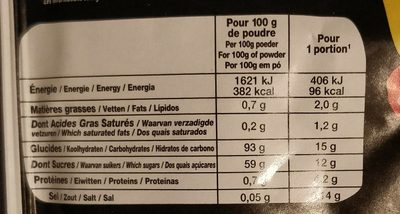 Biodessert Crème anglaise - Informations nutritionnelles - fr