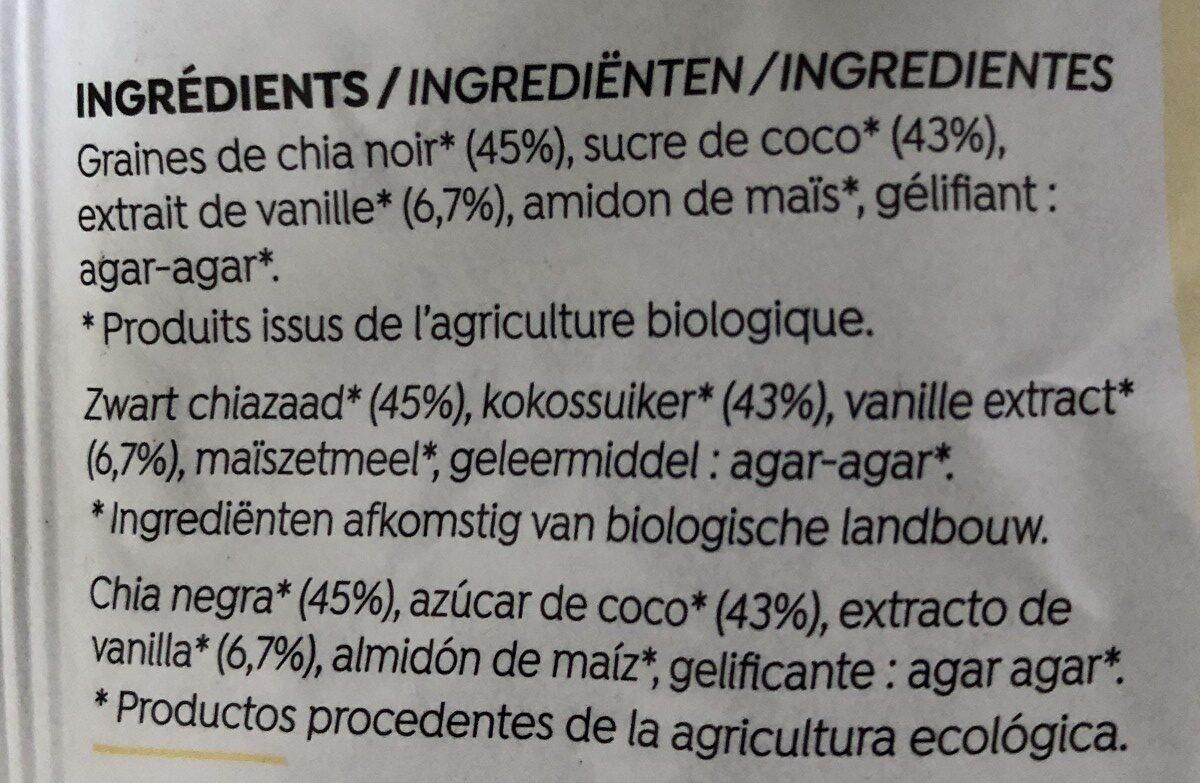 Bio Dessert Chia/Vanille - Ingrédients - fr
