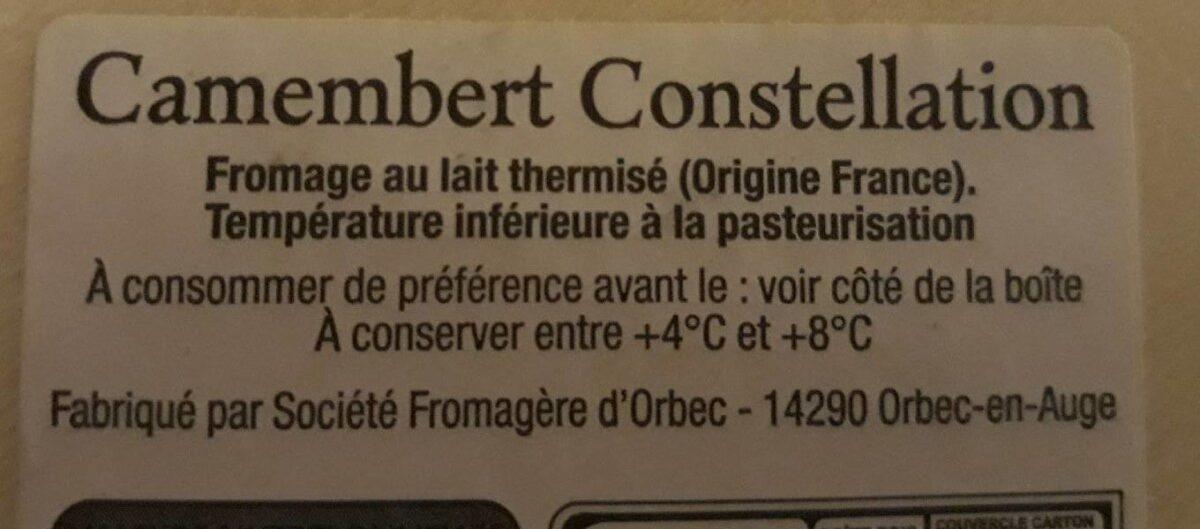 Camembert moulé à la louche - Ingrédients