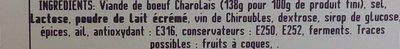 Délice de Charolais - Ingredients - fr