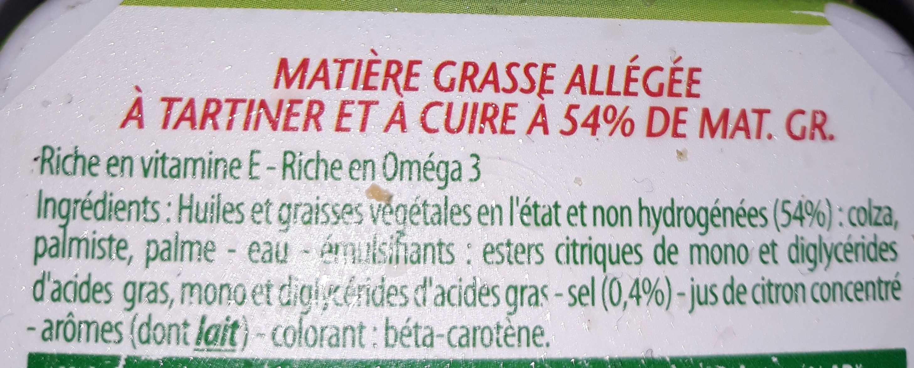 Omega 3 Tartine & Cuisson - Ingredients