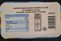 Margarine allégée tournesol - Voedingswaarden - fr