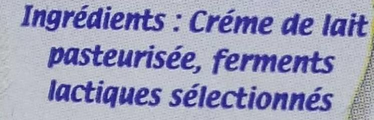 Crème fraîche gourmande (30% MG) - Ingrediënten