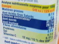 Confiture d'abricots canino au fructose - Informations nutritionnelles - fr
