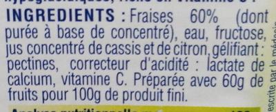 Confiture de fraises au fructose - Ingredients