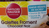 Galettes froment Chocolat noir - Product - fr
