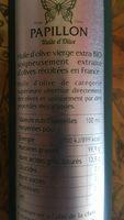 HUILE OLIVE FRANCE - Ingredients - fr