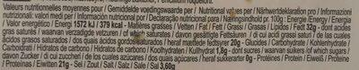 Roquefort Papillon Rouge - Informations nutritionnelles