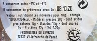 Perail - Informations nutritionnelles - fr