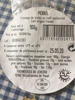 Fromage Au Lait De Brebis - Informations nutritionnelles - fr