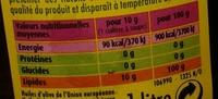 Huile olive - Nährwertangaben - fr