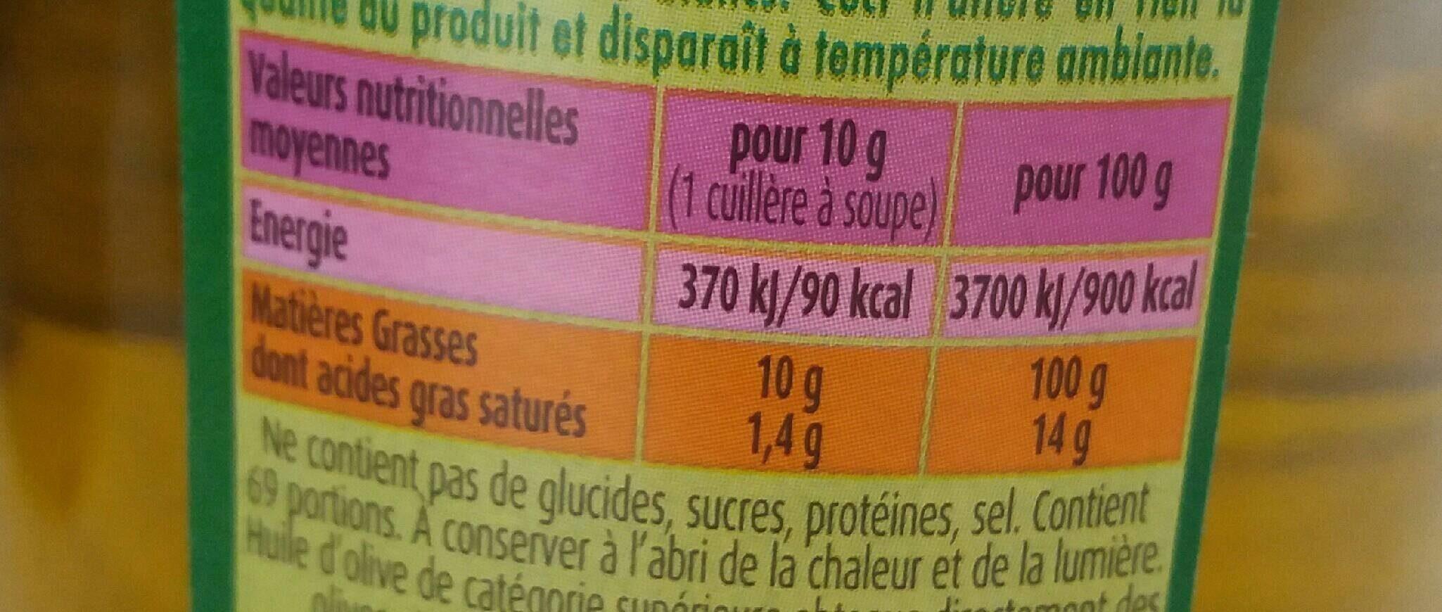 HUILE D'OLIVE PUGET VERTE PUISSANTE - Informations nutritionnelles - fr