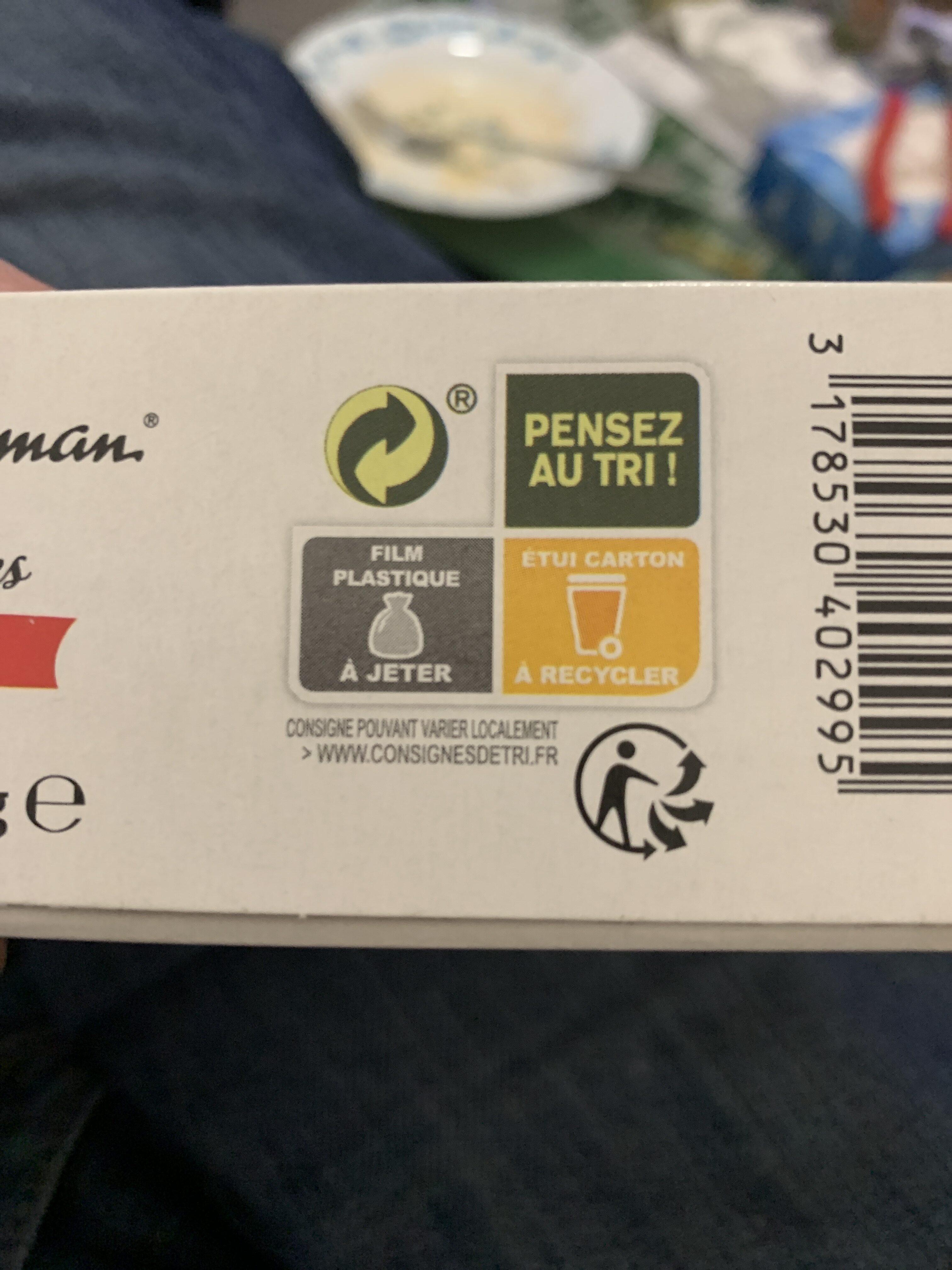 Tartelettes framboise - Istruzioni per il riciclaggio e/o informazioni sull'imballaggio - fr
